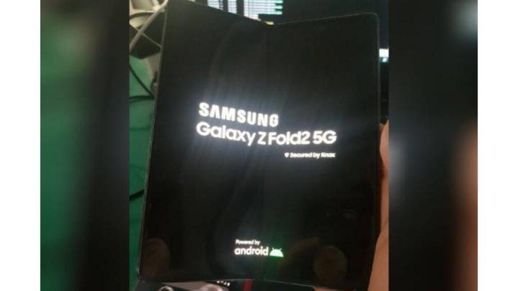 صورة مسربة لموبايل Samsung Galaxy Z Fold2 5G