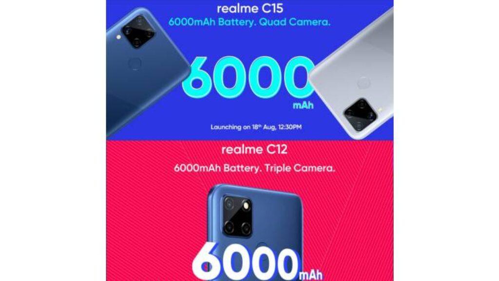 اختلاف بين الكاميرا بين موبايل Realme C12 و Realme C15