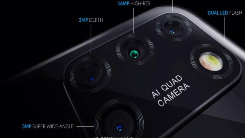 الكاميرا الخلفية رباعية لموبايل Alcatel 3X 2020