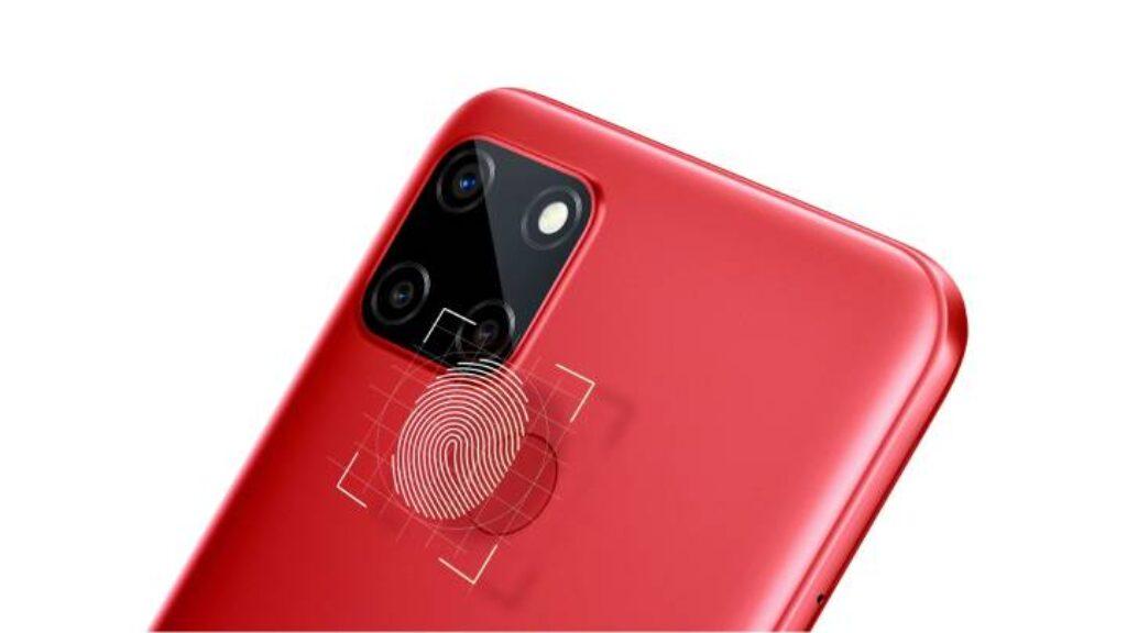 بصمه الاصبع لهاتف Realme C12 فى خلف الهاتف