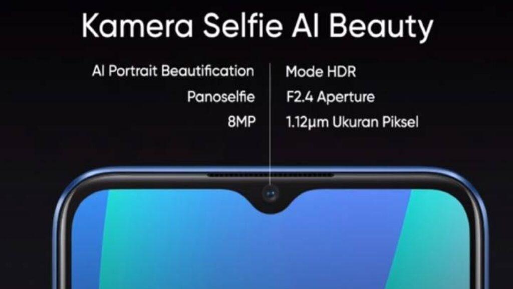 الكاميرا الامامية لموبايل Realme C15