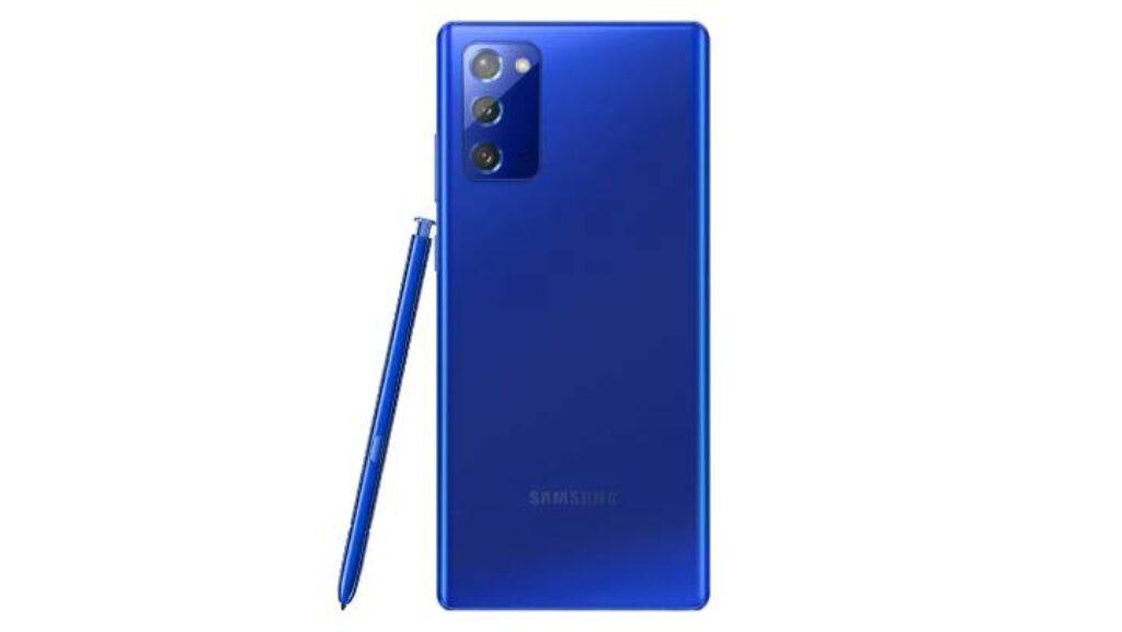 لون الازرق الجديد لهاتف Samsung Galaxy Note 20