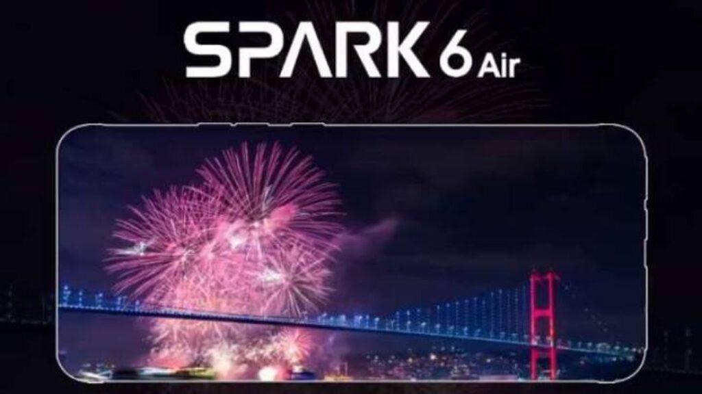 شاشة هاتف Tecno Spark 6 Air