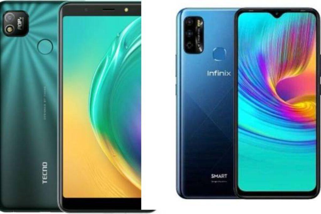 مقارنة السعر والمواصفات بين هاتف Tecno Pop 4 و Infinix Smart 5