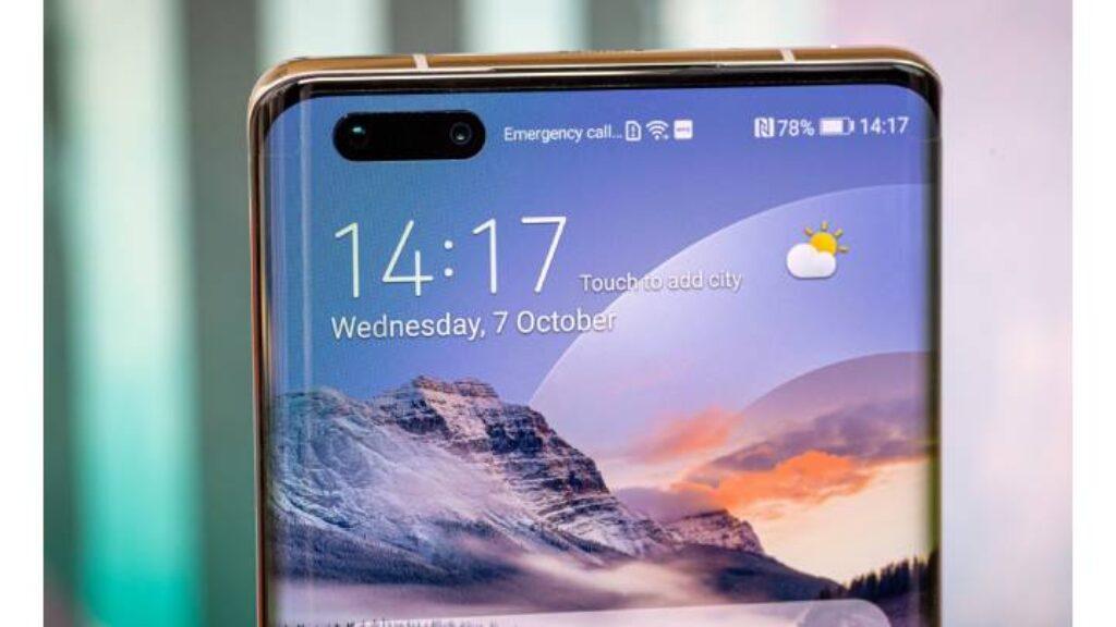 تصميم الكاميرا الامامية لموبايل Huawei Mate 40 Pro